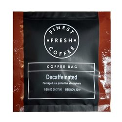 Decaf coffee bags