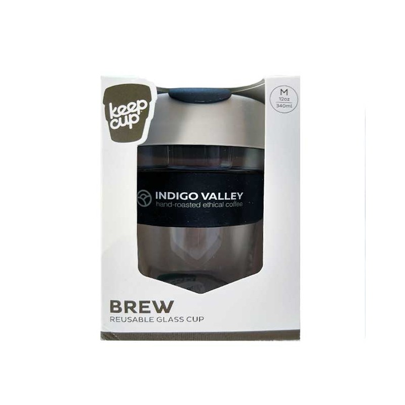 Indigo Valley KeepCup 12oz Glass/Latte