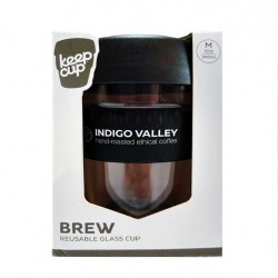 Indigo Valley KeepCup 12oz - Glass/Black
