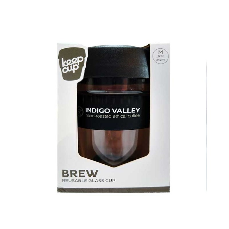 Indigo Valley KeepCup 12oz - Glass/Black