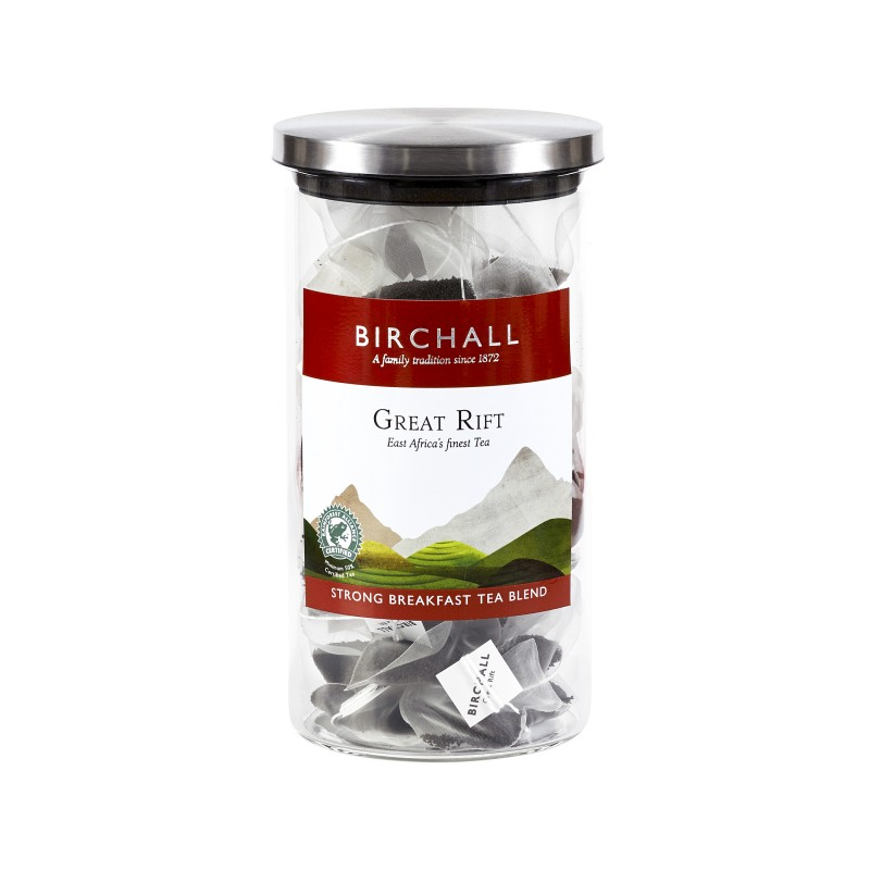 Glass Display Jar with Label