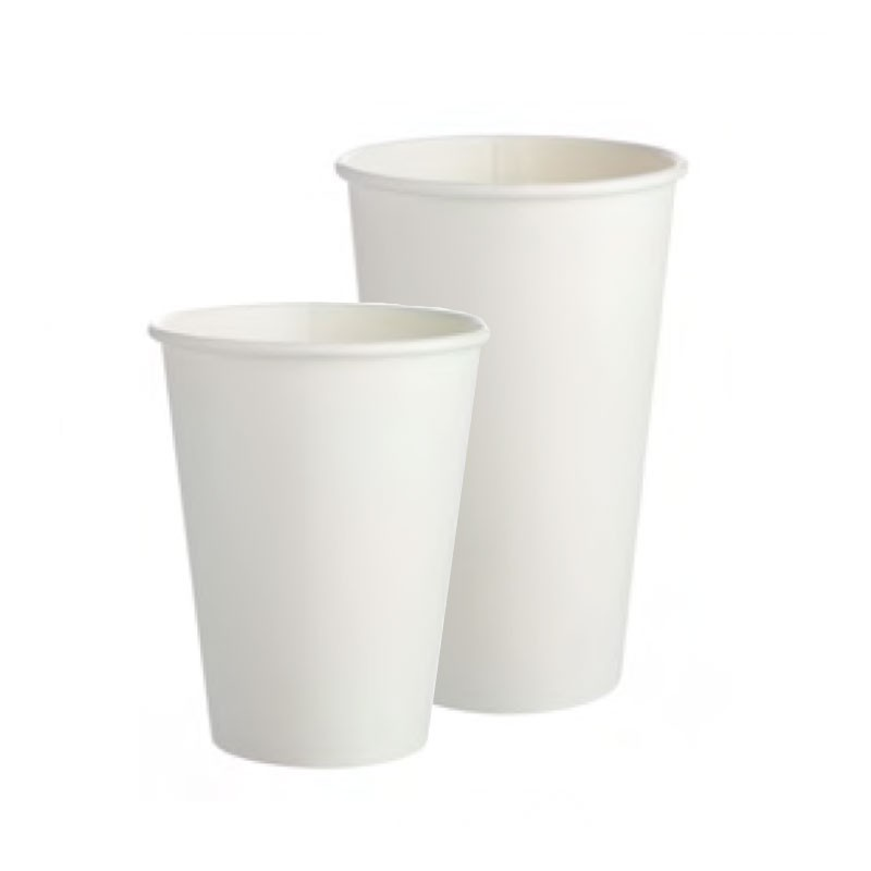 White Paper Cups For Milkshakes & Smoothies